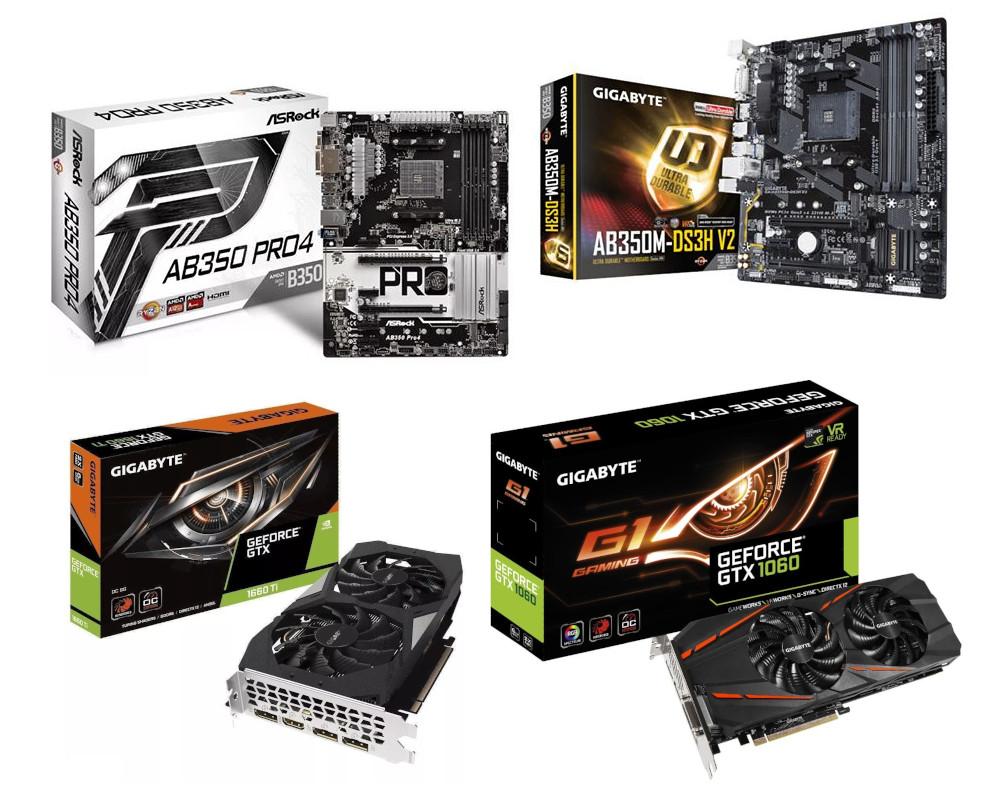 GIGABYTE AB350M-DS3H / GIGABYTE Geforce GTX 1060 - Wymiana uszkodzonych części na nowe